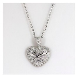 Crystal Heart Womens' Necklace