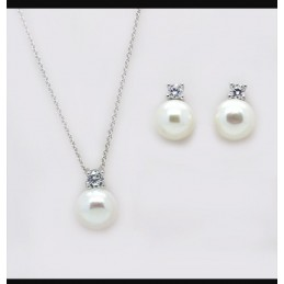 Pearl Pendant Earrings and...