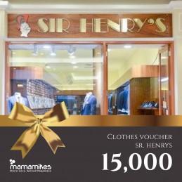 Clothes Voucher Sr. Henry's...