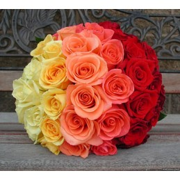Red and Yellow Water Bouquet